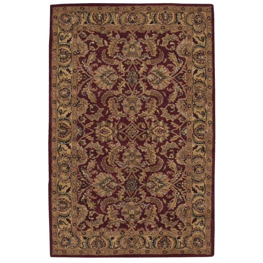 Nourison India House Burgundy Rectangular Indoor Tufted Area Rug (Common: 5 x 8; Actual: 60-in W x 96-in L)