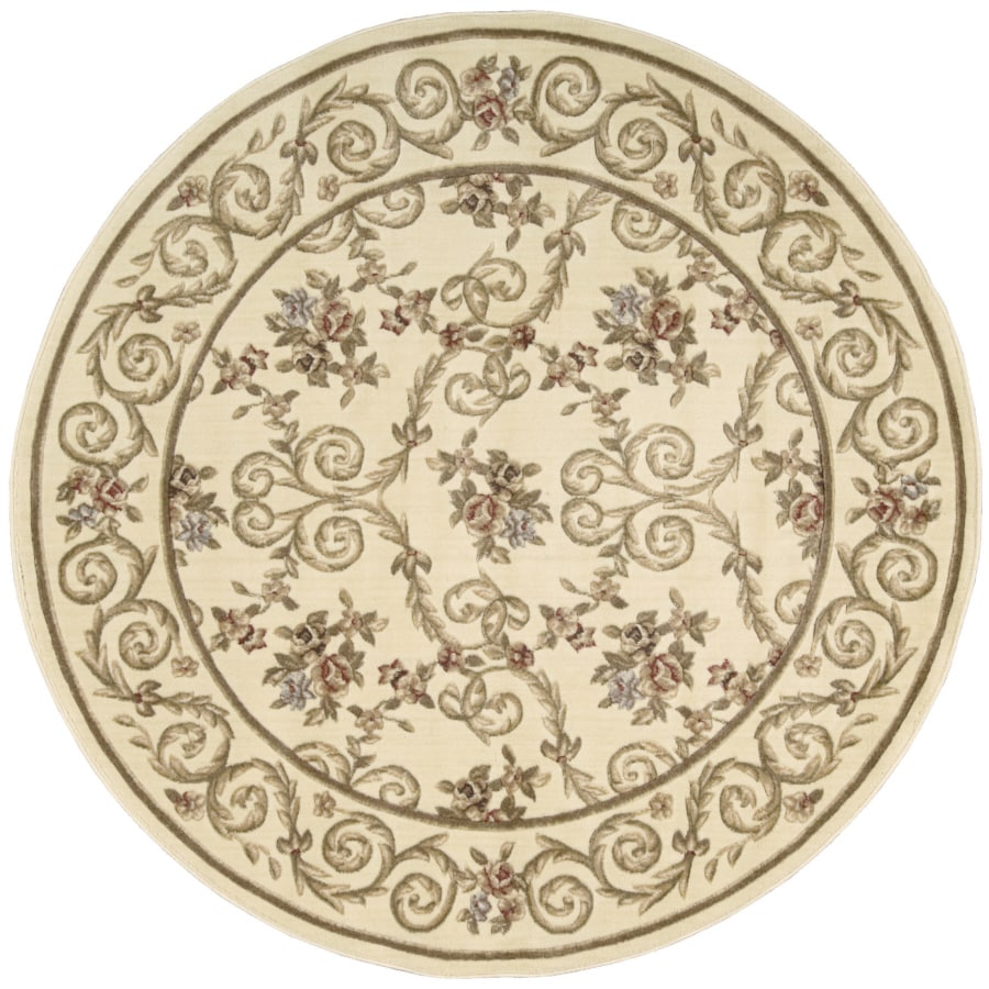 Nourison 5-ft 6-in Round Sunset Ivory Area Rug