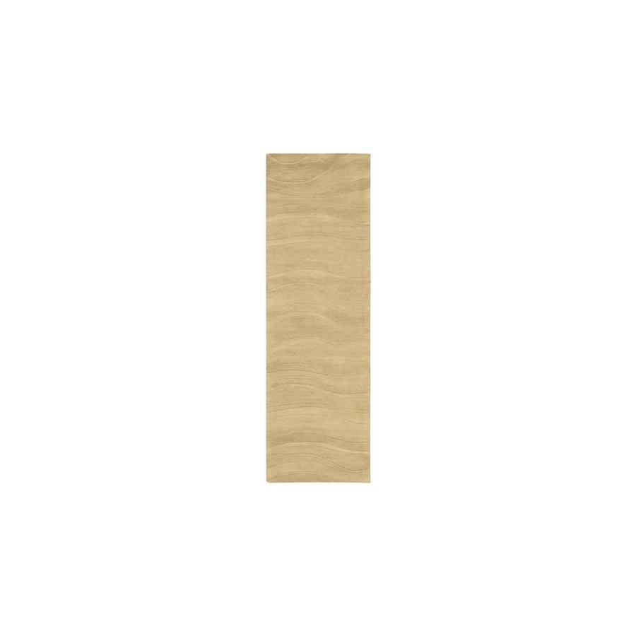 Nourison Nature's Terrain Light Gold Rectangular Indoor Tufted Area Rug (Common: 2 x 8; Actual: 27-in W x 90-in L)