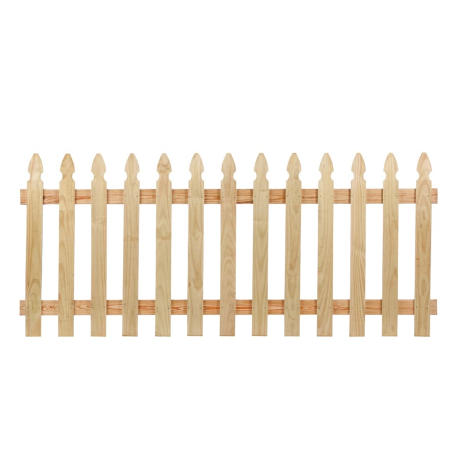 Severe Weather Pressure Treated Pine Privacy Fence Panel (Common: 8-ft x 3.5-ft; Actual: 8-ft x 3.5-ft)