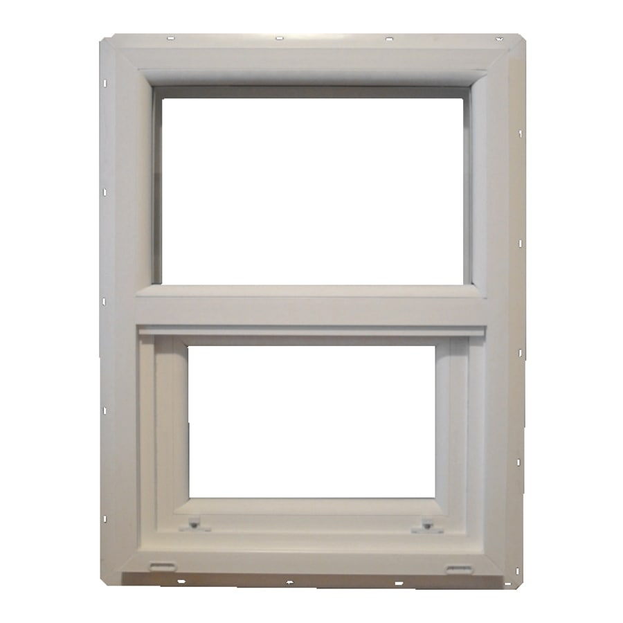 MW 400 Sh Vinyl Single Pane Single Strength Single Hung Window (Rough Opening: 18-in x 30-in; Actual: 17.5-in x 29.5-in)