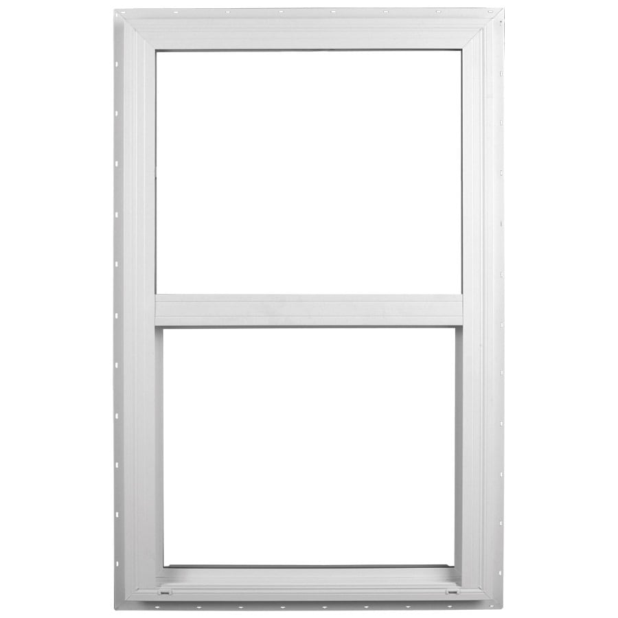 Ply Gem Windows 2600 Sh Vinyl Double Pane Single Strength Single Hung Window (Rough Opening: 28-in x 38-in; Actual: 27.5-in x 37.5-in)
