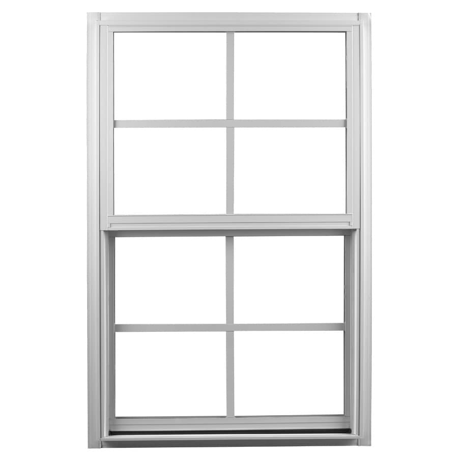 Ply Gem 1500 Series Aluminum Double Pane Single Strength Single Hung Window (Rough Opening: 36-in x 52-in; Actual: 35.25-in x 51.25-in)