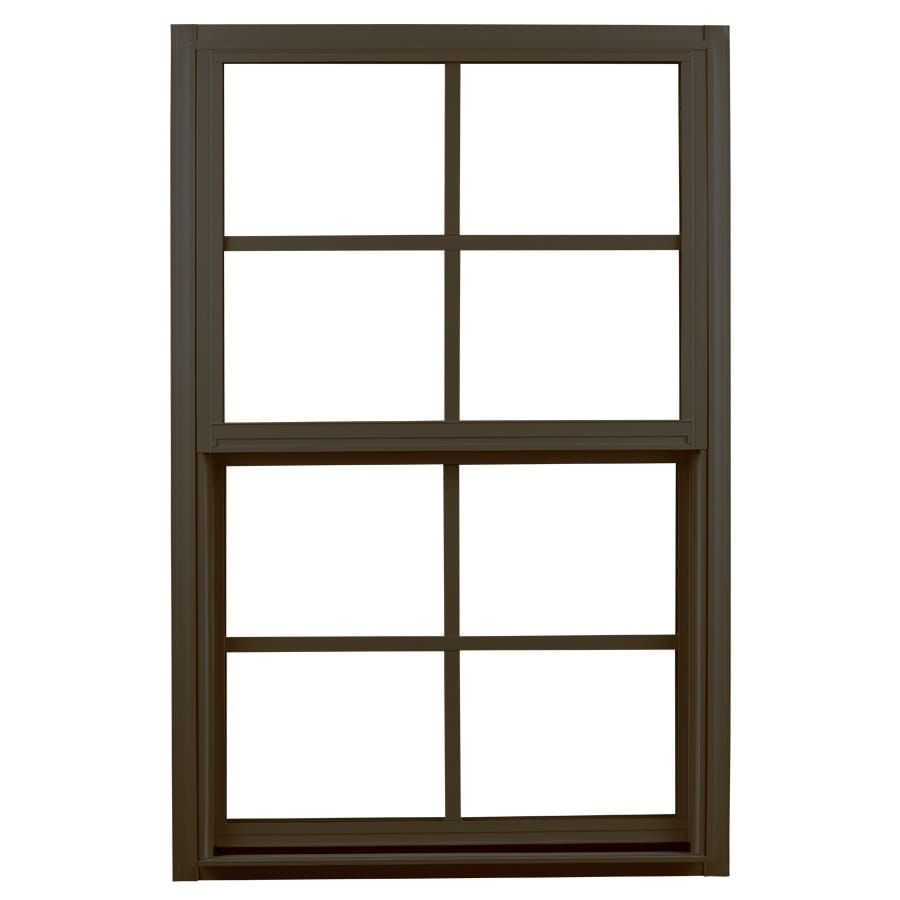 Ply Gem 1500 Series Aluminum Double Pane Single Strength Single Hung Window (Rough Opening: 32-in x 52-in; Actual: 31.25-in x 51.25-in)