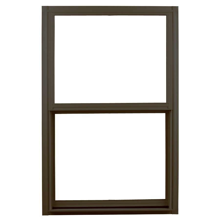 Ply Gem 1500 Series Aluminum Double Pane Single Strength Single Hung Window (Rough Opening: 32-in x 52-in; Actual: 51.25-in x 31.25-in)