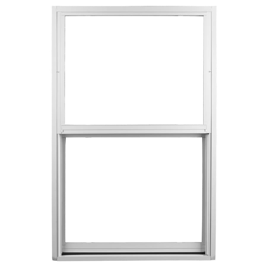 Ply Gem 1500 Series Aluminum Double Pane Single Strength Single Hung Window (Rough Opening: 37-in x 50.625-in; Actual: 36-in x 49.625-in)