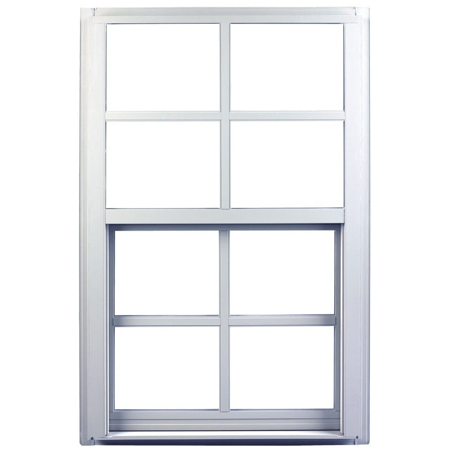 Ply Gem 1600 Series Aluminum Double Pane Single Strength Single Hung Window (Rough Opening: 36-in x 36-in; Actual: 35.25-in x 35.25-in)