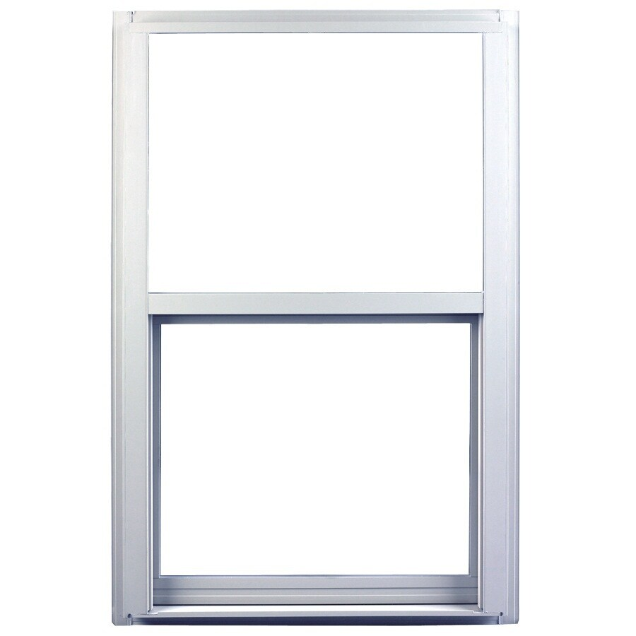 Ply Gem 1600 Series Aluminum Double Pane Single Strength Single Hung Window (Rough Opening: 32-in x 36-in; Actual: 31.25-in x 35.25-in)