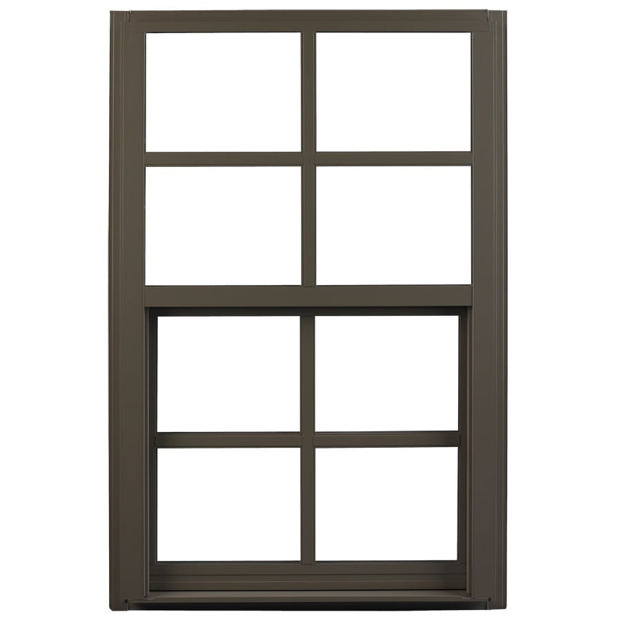 Ply Gem 1600 Series Aluminum Double Pane Single Strength Single Hung Window (Rough Opening: 32-in x 52-in; Actual: 31.25-in x 51.25-in)