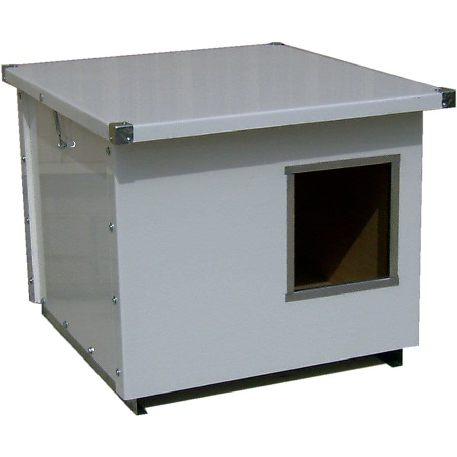 Options Plus 2.5-ft x 3.33-ft x 2.5-ft Metal Dog House