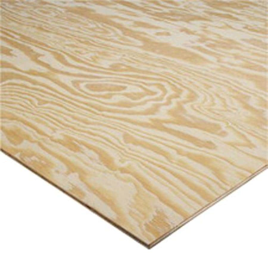 Pine Sheathing Plywood (Common: 15/32 x 4 x 8; Actual: 0.50-in x 48-in x 96-in)