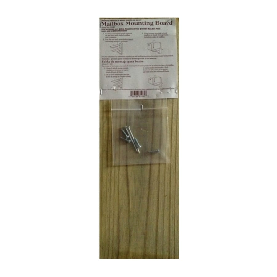Top Choice Mailbox Mounting Board, Treated