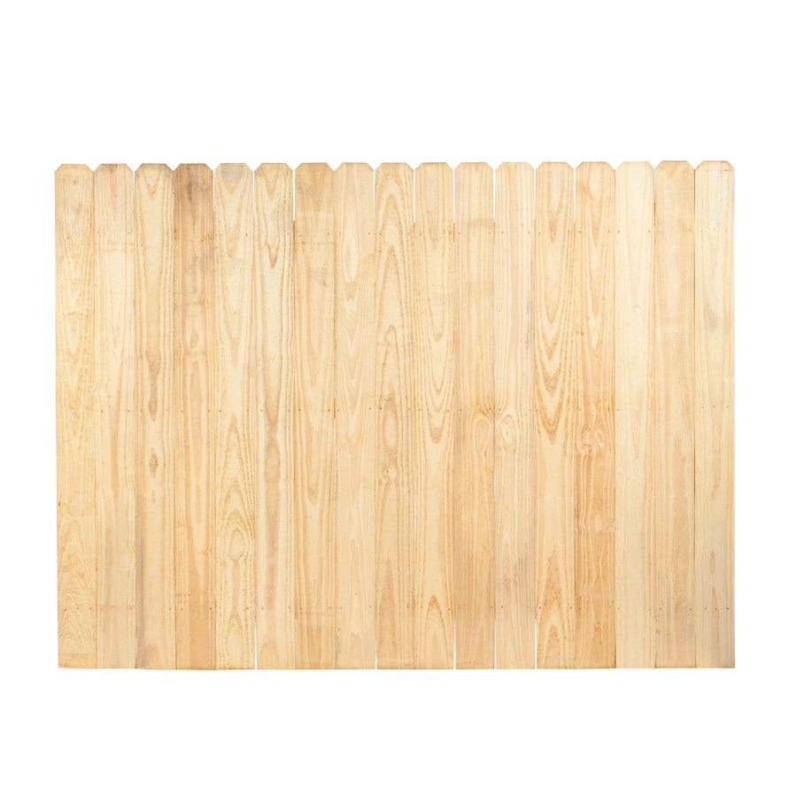 Severe Weather Pine Dog-Ear Pressure Treated Wood Fence Privacy Panel (Common: 6-ft x 8-ft; Actual: 6-ft x 8-ft) PSFP68T25N