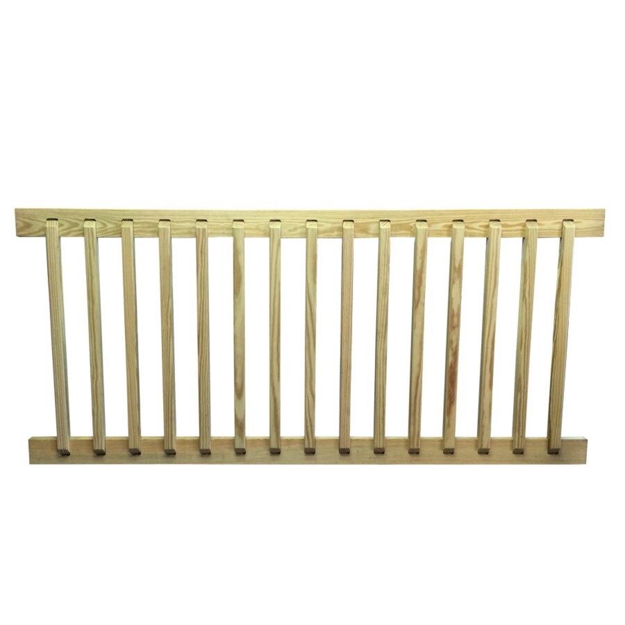 Top Choice Pressure Treated Wood Pressure Treated Wood Pine Deck Railing Kit (Assembled: 6-ft x 2.69-ft)