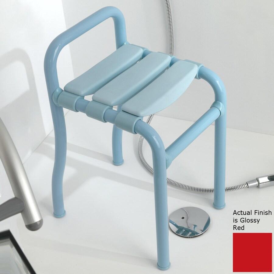 Ponte Giulio USA Glossy Red Plastic Freestanding Shower Chair