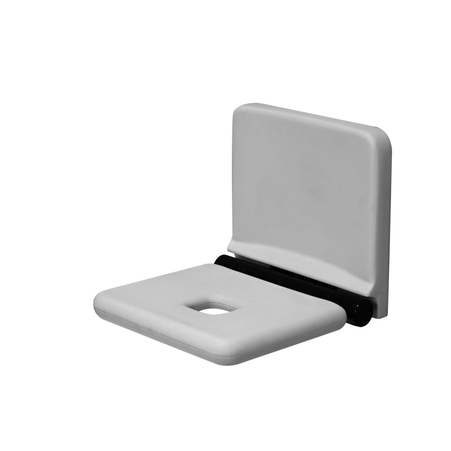 Ponte Giulio USA Glossy Grey Plastic Wall Mount Shower Seat