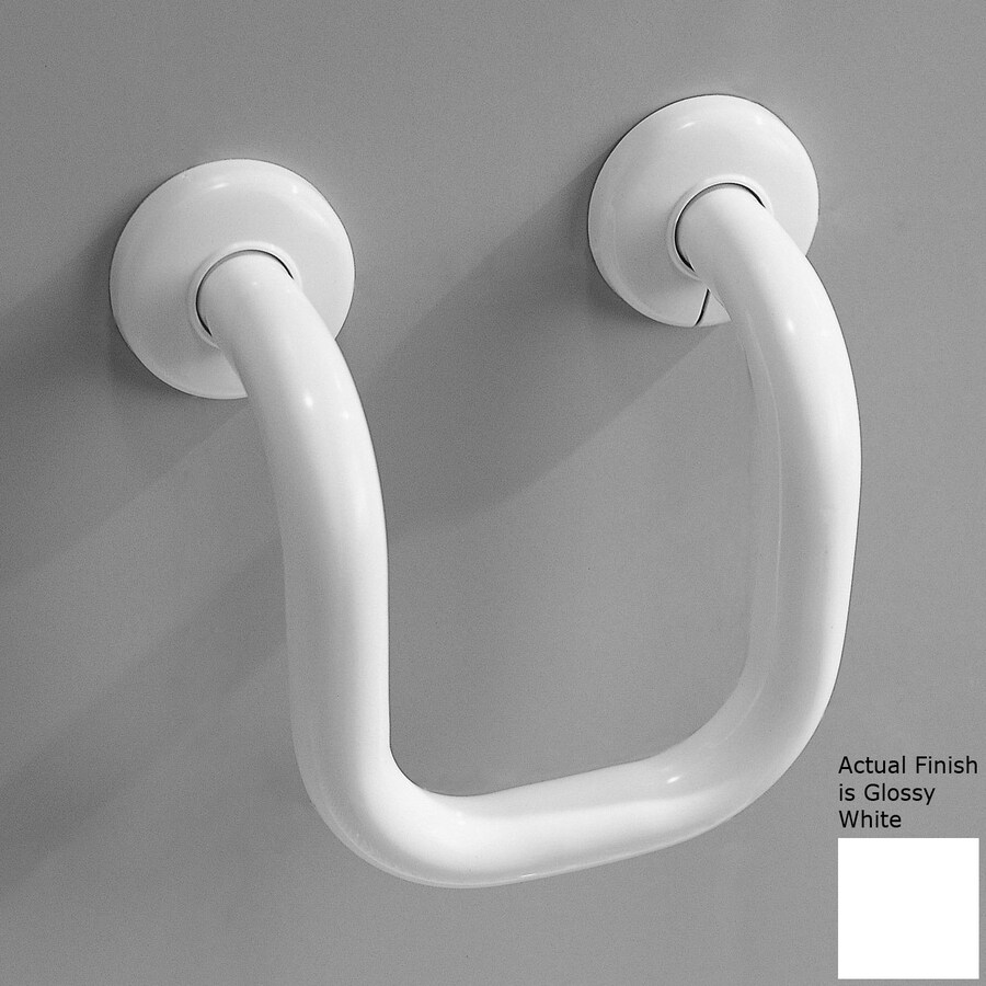 Ponte Giulio USA 6.688-in Glossy White Wall Mount Grab Bar
