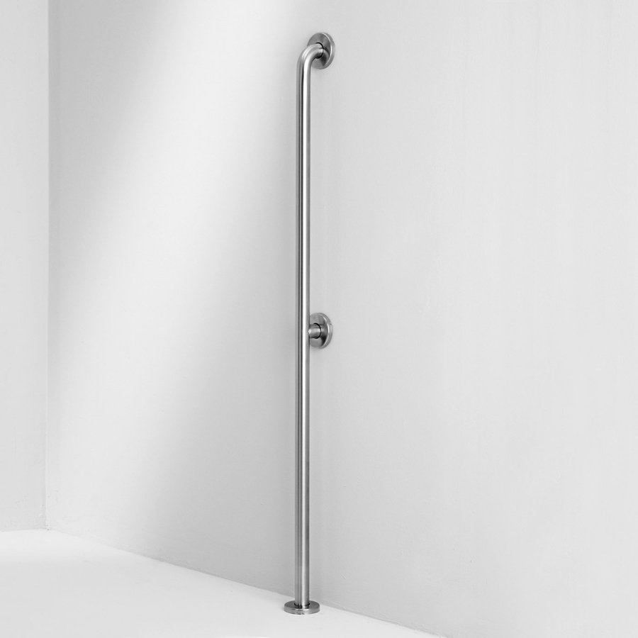 Ponte Giulio USA Satin Steel Floor-Mounted Grab Bar