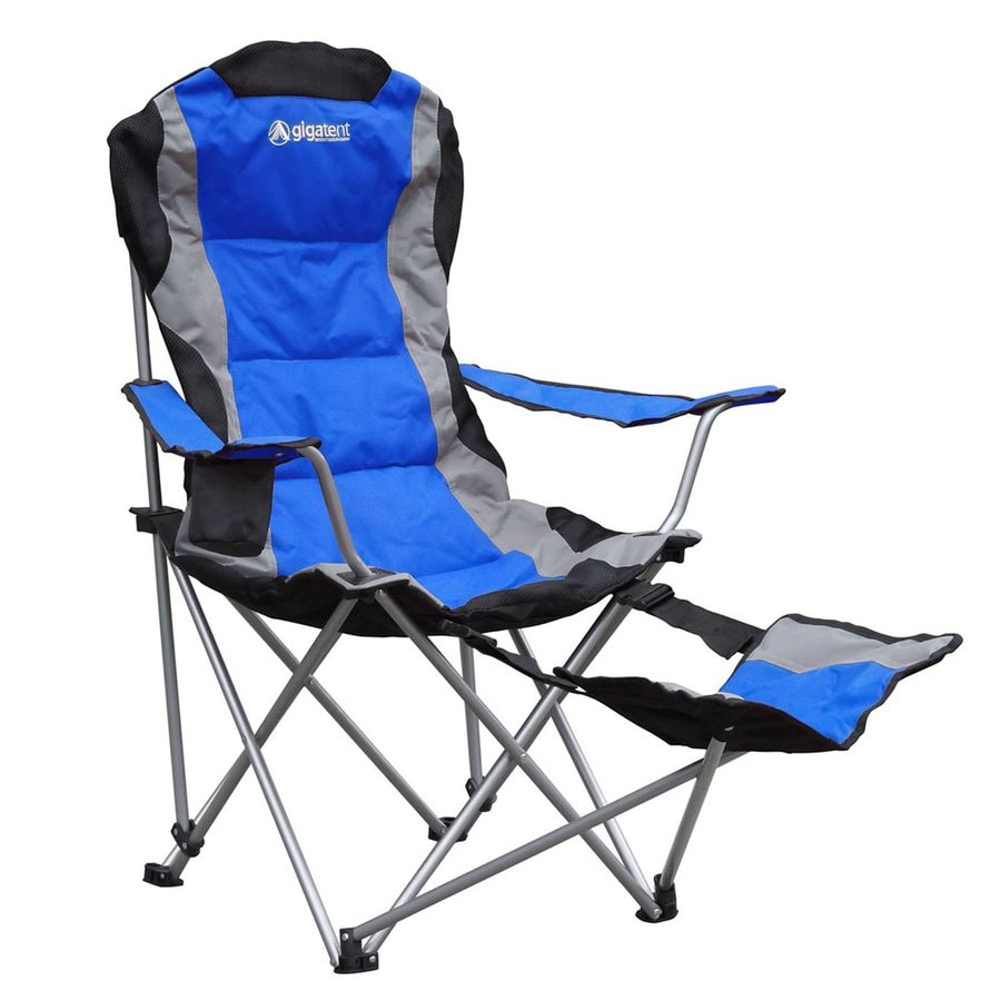 Gigatent Blue Steel Folding Camping Chair