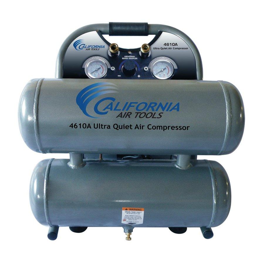 California Air Tools 1-Hp 4.6-Gallon 120-PSI 110-Volt Horizontal Stationary Electric Air Compressor