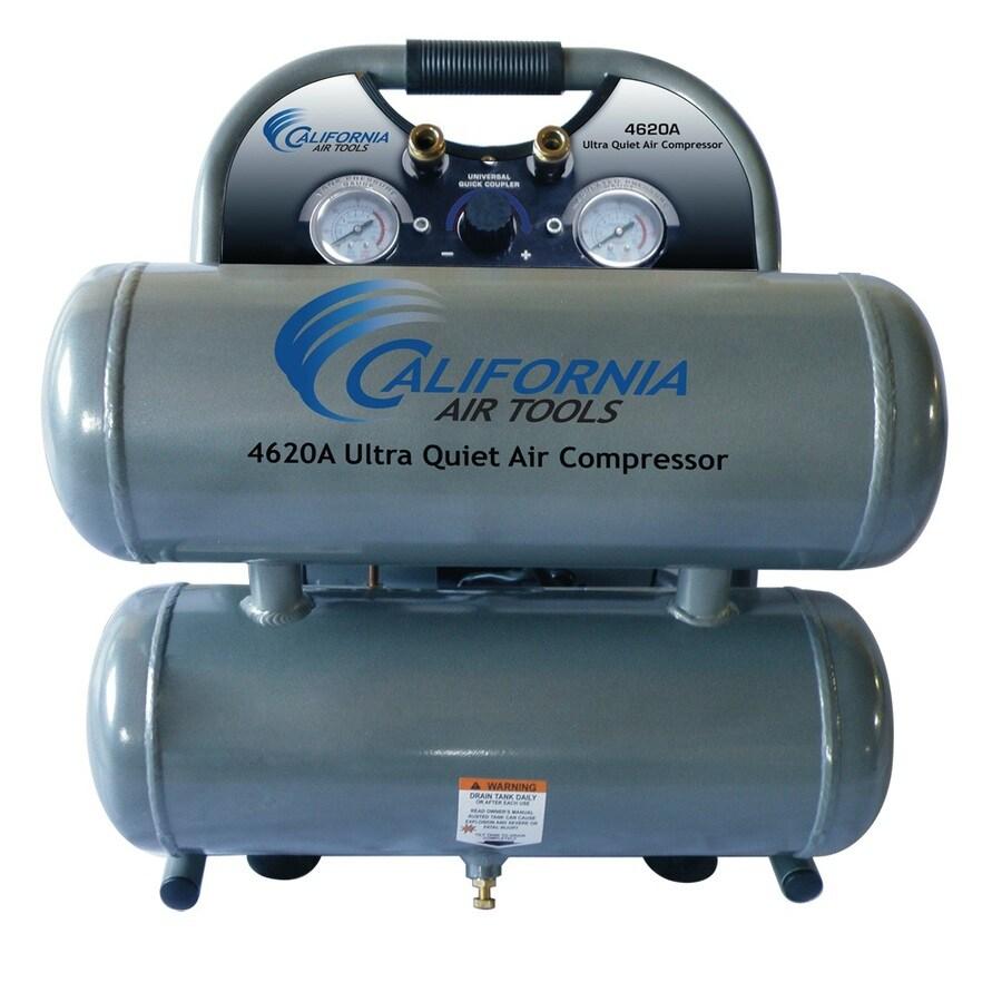 California Air Tools 2-Hp 4.6-Gallon 125-PSI 110-Volt Horizontal Stationary Electric Air Compressor
