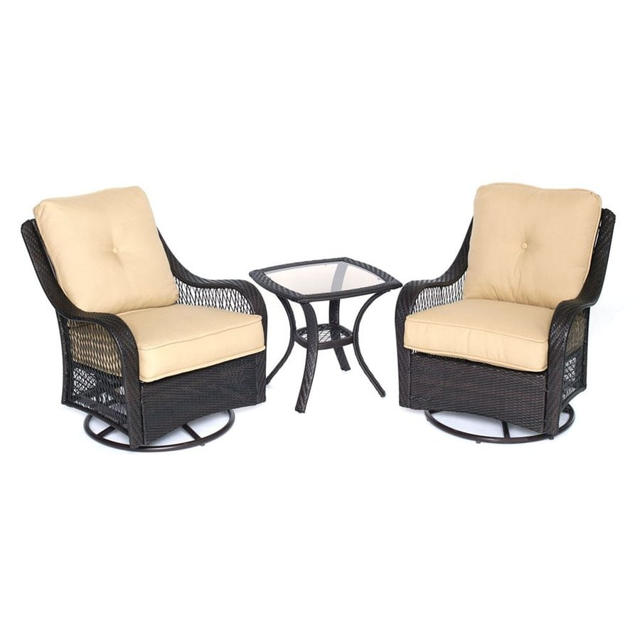 Shop hanover outdoor furniture orleans 3 piece wicker for Where to get furniture