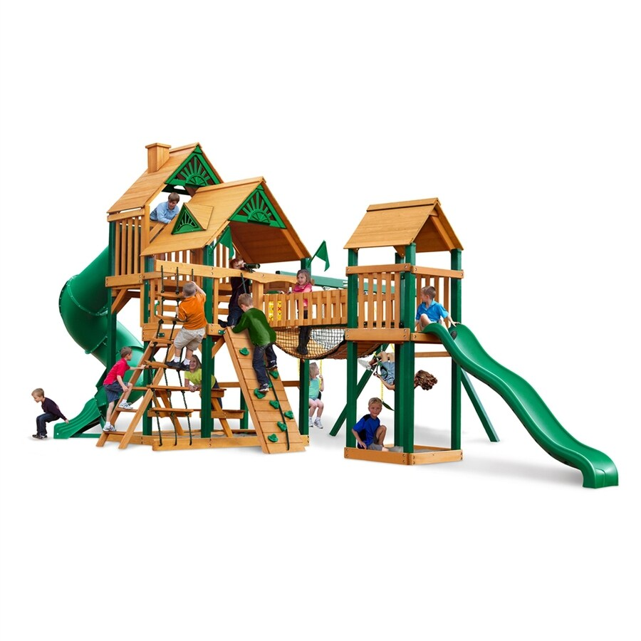 Gorilla Playsets Treasure Trove Wood Playset with Swings