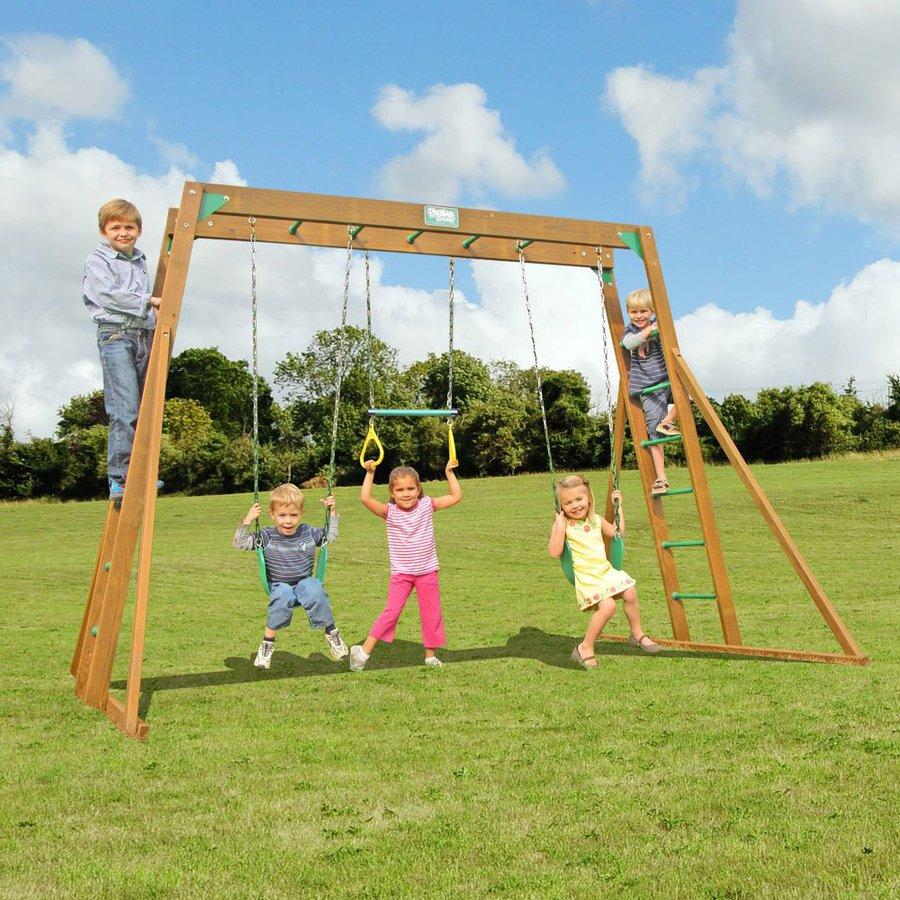 Creative Playthings Residential Wood Playset with Swings