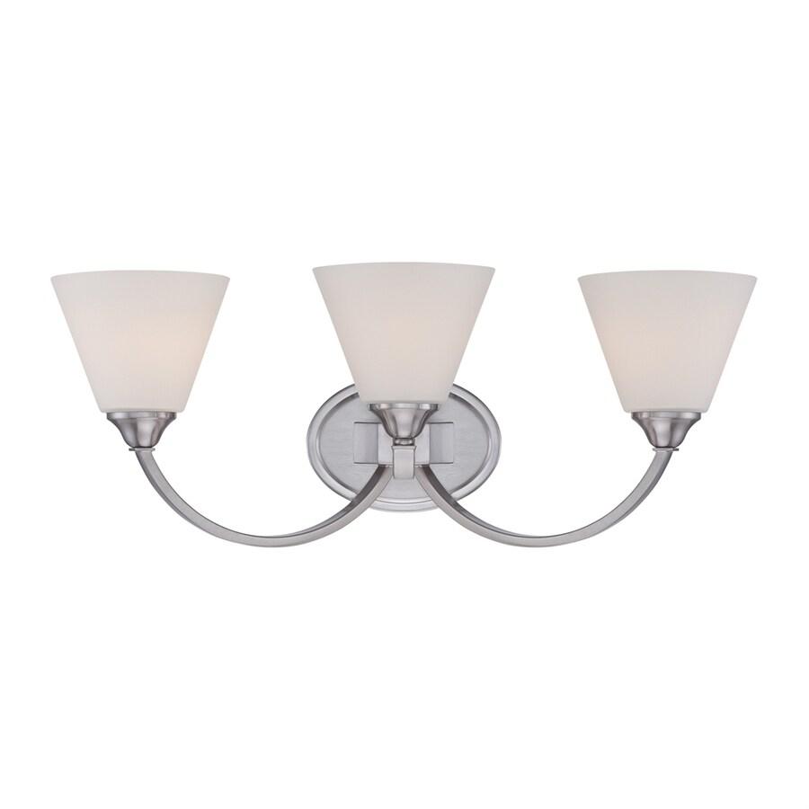 Quoizel 3-Light Brushed Nickel Cone Vanity Light
