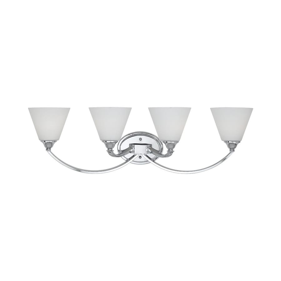 Quoizel 4-Light Polished Chrome Cone Vanity Light