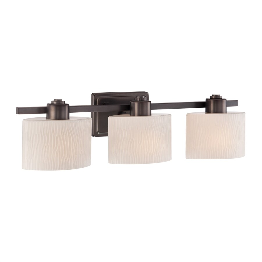 Quoizel 3-Light Copper Bronze Oval Vanity Light