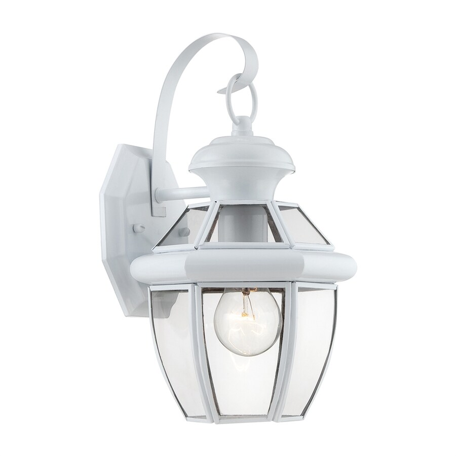 Quoizel 12-in H White Outdoor Wall Light