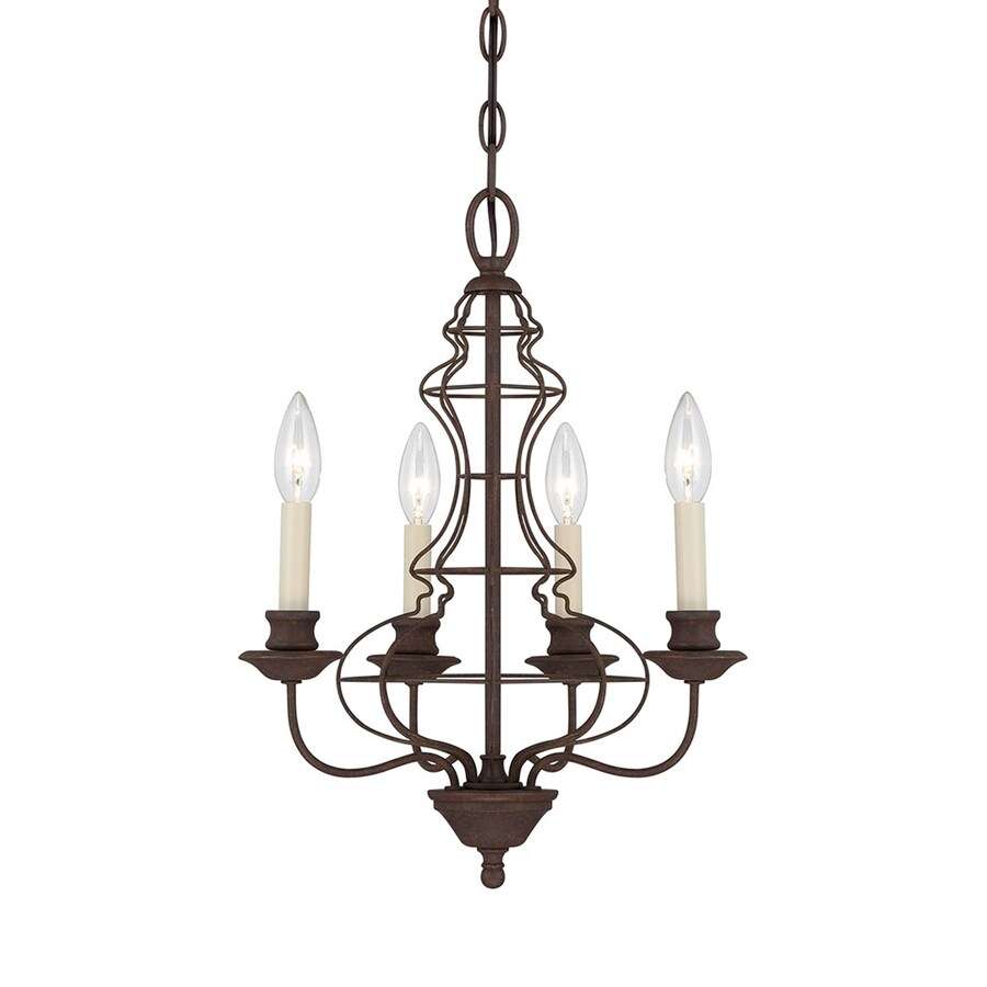 Shop Quoizel 15 25 In 4 Light Rustic Antique Bronze