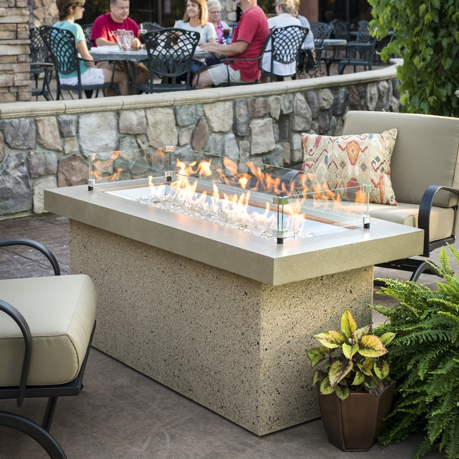 Outdoor Greatroom Company 25.5-in W 80,000-BTU Stainless Steel Liquid Propane Fire Table