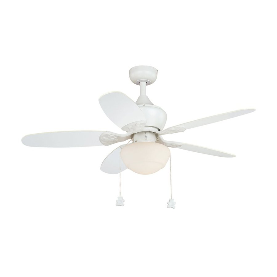 Cascadia Lighting Alex 44-in Yellow/White Downrod or Close Mount Indoor Ceiling Fan Included (5-Blade)