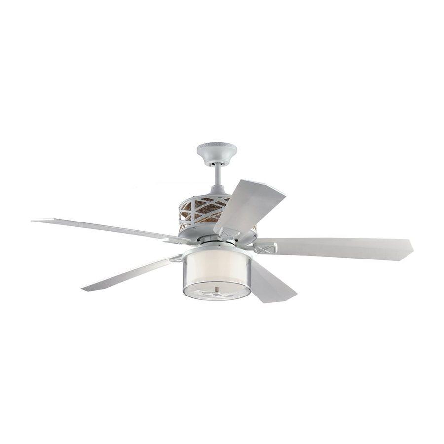 Shop monte carlo fan company piper 54 in rubberized white for Ceiling fan companies