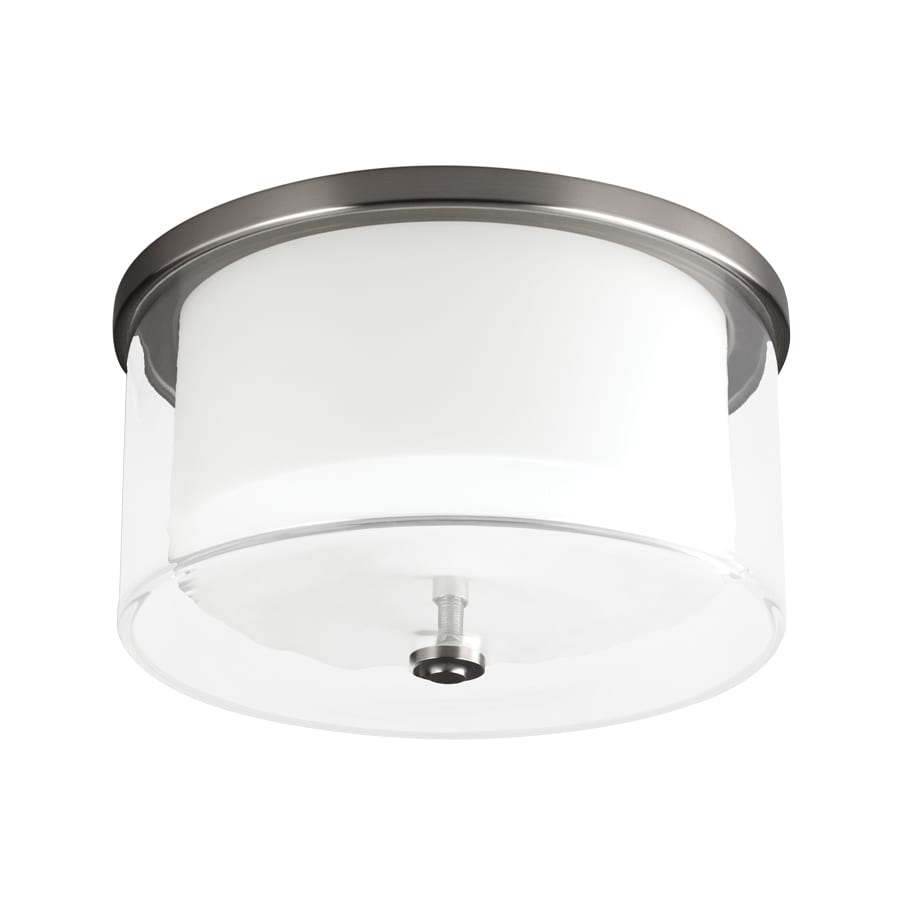 Monte Carlo Fan Company Piper 1-Light Brushed Steel LED Ceiling Fan Light Kit with Frosted Glass