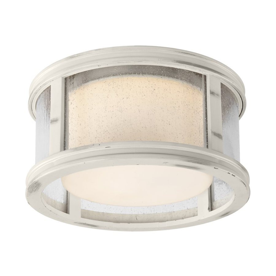 Monte Carlo Fan Company Tillbury 1-Light Chalk Washed LED Ceiling Fan Light Kit with Textured Glass
