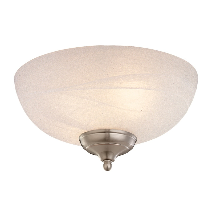 Monte Carlo Fan Company 3-Light White Faux Alabaster Incandescent Ceiling Fan Light Kit with Alabaster Glass