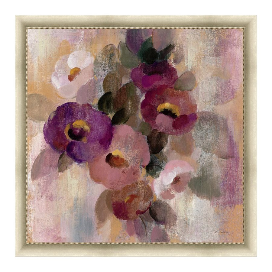 Cascadia Lighting 24-in W x 24-in H Framed Canvas Romantic French Bouquet II Print Wall Art