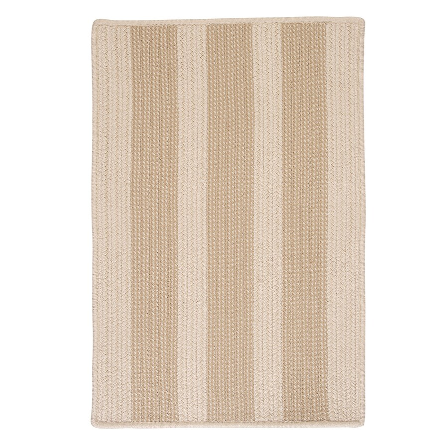 Colonial Mills Boat House Natural Rectangular Indoor/Outdoor Braided Area Rug (Common: 8 x 11; Actual: 96-in W x 132-in L)