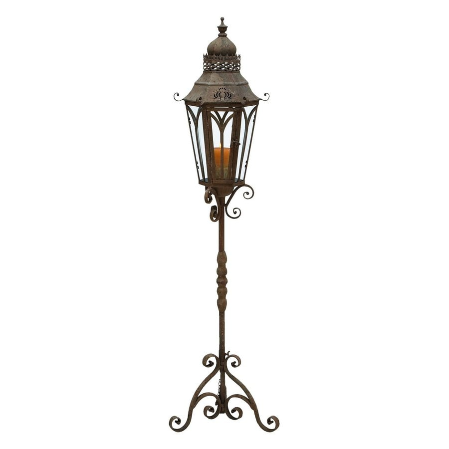 Aspire Home Accents 1 Candle Metal Pillar Candle Holder