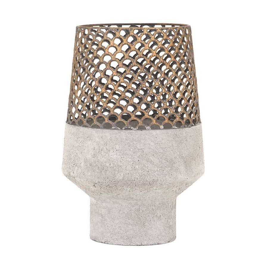 Imax Worldwide Rowan Small Metal Vase