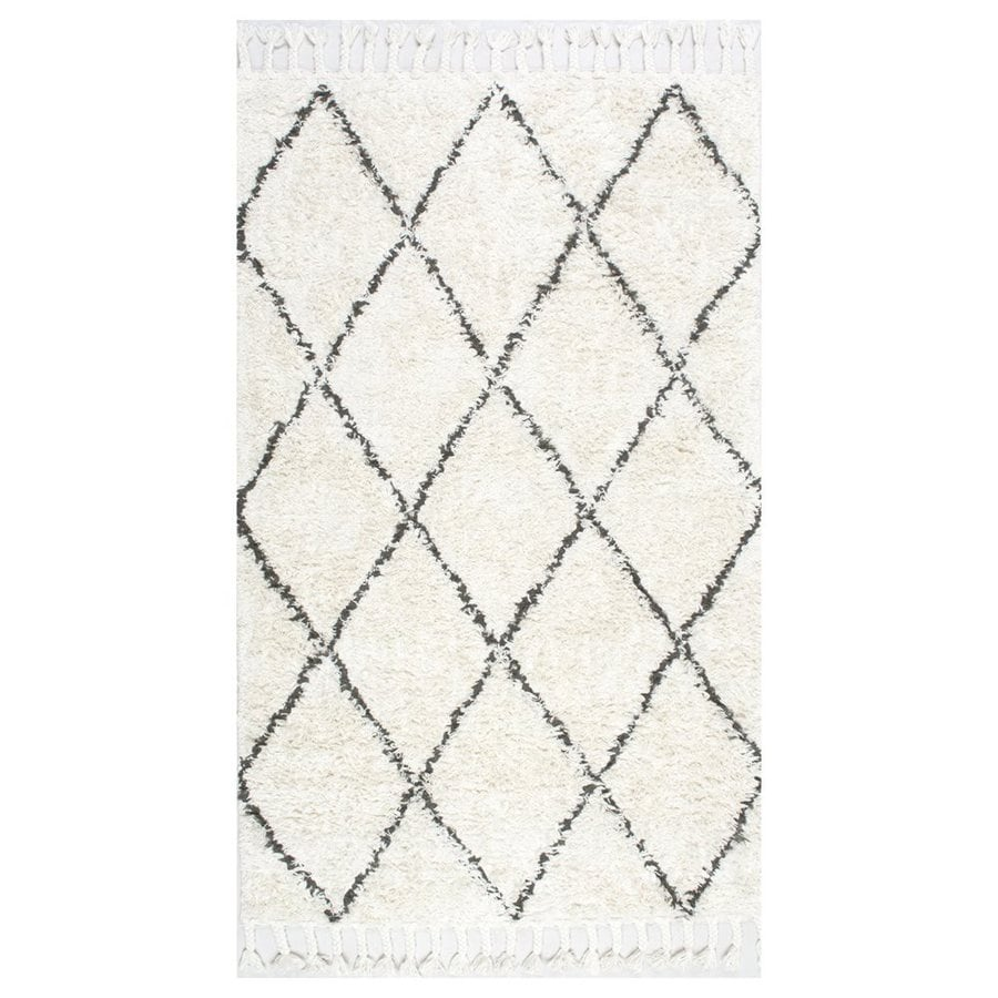 nuLOOM Decor Natural Rectangular Indoor Shag Moroccan Area Rug (Common: 3 x 5; Actual: 36-in W x 60-in L)