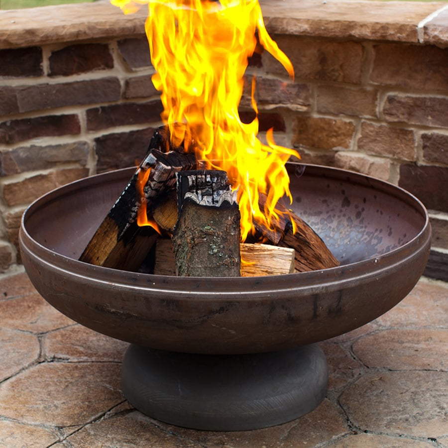 Shop Ohio Flame Patriot 24 In W Natural Steel Wood Burning Fire Pit At