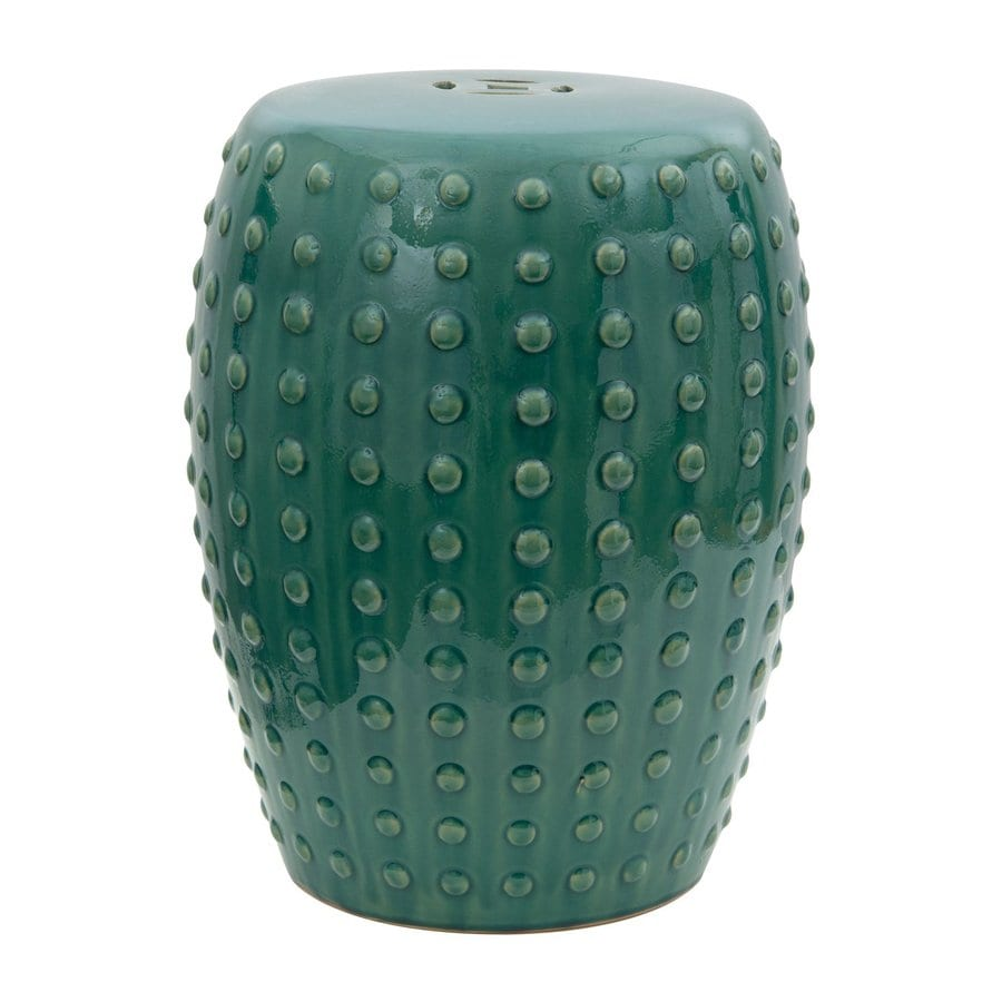Shop Oriental Furniture 19 In Teal Ceramic Barrel Garden
