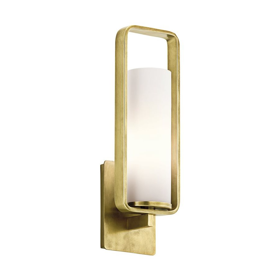 Kichler Lighting City Loft 5.5-in W 1-Light Natural Brass Arm Wall Sconce