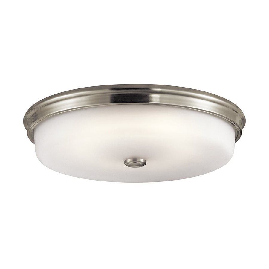 shop kichler lighting 18 in w brushed nickel led ceiling flush mount light at. Black Bedroom Furniture Sets. Home Design Ideas