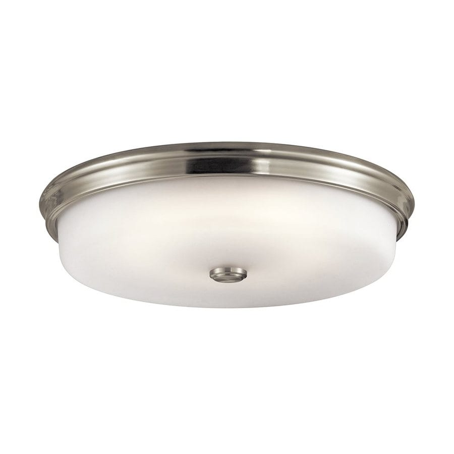 Shop Kichler Lighting 18-in W Brushed Nickel LED Ceiling