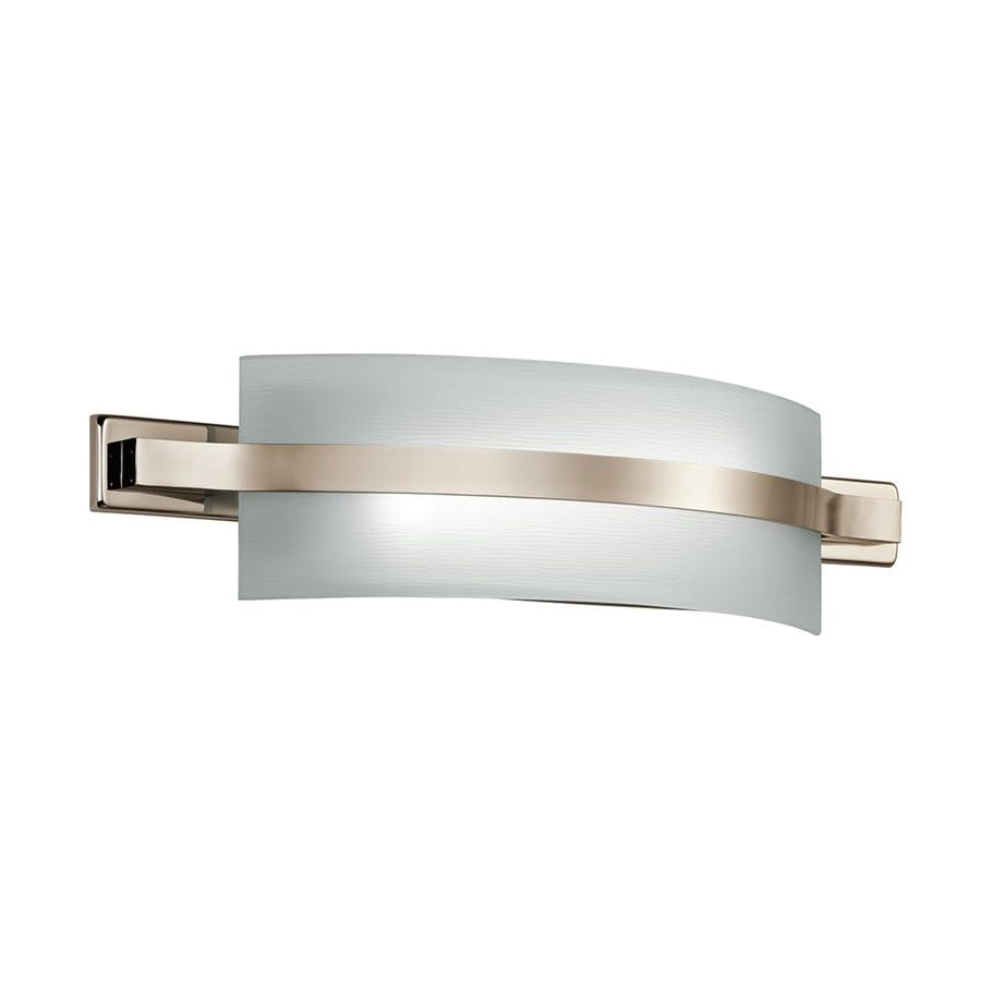 Led Tube Vanity Lights : Shop Kichler Lighting 1-Light Freeport Polished Nickel LED Bathroom Vanity Light at Lowes.com